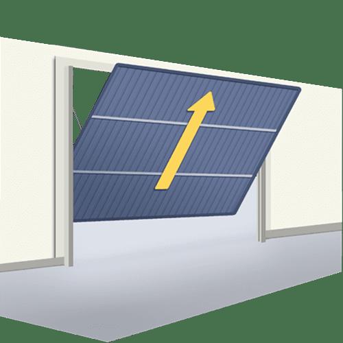 Oferta puerta seccional una hoja